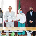 Ariel Juárez y Preparatoria de Cuautitlán firman convenio de colaboración