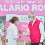 Alfredo Del Mazo visita Cuautitlán para hacer entrega de salario rosa