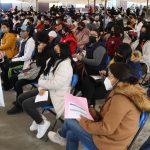 Jóvenes de 18 a 29 años acuden a inmunizarse contra Covid-19 en Huixquilucan