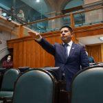 El diputado Paco Rojas toma protesta en la LXI Legislatura de Edomex