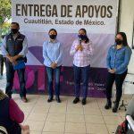 Coordina DIF Cuautitlán entrega de apoyos a grupos vulnerables